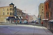 Street Painting Originals - Oshkosh - Main Street by Ryan Radke