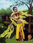 Orisha Paintings - Oshun by Carla Nickerson