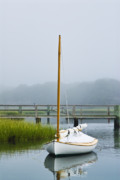 Cape Cod Massachusetts Framed Prints - Osterville Sailboat Framed Print by John Greim