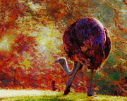 Van Goghs Ear Posters - Ostrich II Poster by Arne Hansen