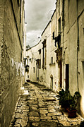Narrow Perspective Framed Prints - Ostuni - Apulia Framed Print by Joana Kruse