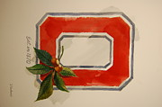 Buckeyes Framed Prints - OSU Block O Framed Print by Bill Dinkins