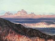 Perspective Paintings - Other side of Picacho Peak by Chris Neil Smith