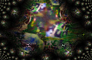 Fractal Worlds Prints - Other Worlds Print by Mindy Newman