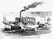 Drawn Photo Prints - Otis Elevator Works, 1853 Print by Granger