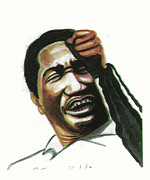 Art Of Soul Singer Drawings - Otis Redding by Emmanuel Baliyanga