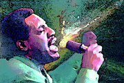 King Of Pop Digital Art - Otis Redding by John Travisano