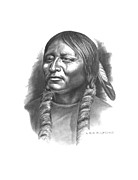 Native American Drawings - Otter Belt by Lee Updike
