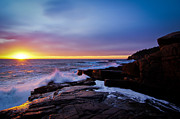 Maine Photographs Prints - Otter Point Fall Sunrise Print by Chad Tracy