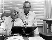 Uris Prints - Otto Preminger, Director & Leon Uris Print by Everett