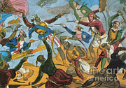 Male Dominated Framed Prints - Ottoman Corsairs Attacking Greek Framed Print by Photo Researchers