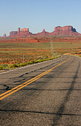 Audrey Campion Metal Prints - ouest USA route monument valley road Metal Print by Audrey Campion
