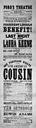 John Booth Posters - Our American Cousin Poster by Bill Cannon