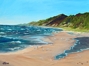 Lakeshore Paintings - Our Beach by Judi Kruis