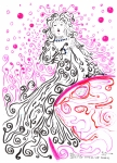 Regina Valluzzi Metal Prints - Our Benevolent Lady of the Swirling Soap Bubbles Metal Print by Regina Valluzzi