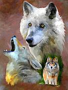 Wolf Howling Paintings - Our Cry by Jai Johnson