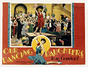Lobbycard Photo Framed Prints - Our Dancing Daughters, Joan Crawford Framed Print by Everett