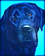 Black Lab Mixed Media - Our Dog  by Jan Bonner