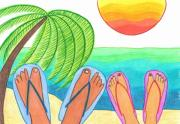 Our Dream Vacation Print by Geree McDermott