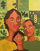 African-americans Painting Posters - Our Family Poster by Maggie Ruth