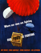 Government Posters - Our Food Is Fighting Poster by War Is Hell Store