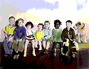 Actors Mixed Media - Our Gang  by Charles Shoup