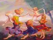 Enjoying Framed Prints - Our Girls Dance Framed Print by Naomi Gerrard