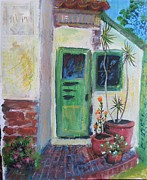 Front Porch Mixed Media Prints - Our Happy Home Print by Melody Horton Karandjeff