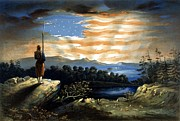 Us Flag Paintings - Our Heaven Born Banner by War Is Hell Store