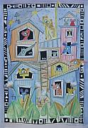Mouse Drawings Framed Prints - Our house Framed Print by Johanna Virtanen