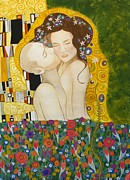 Klimt. Nude Woman Posters - Our Kiss Poster by Caroline Moses