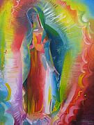 Our Lady Of Guadalupe Painting Originals - Our Lady of Guadalupe - Queen of The Americas by Stephen B Whatley