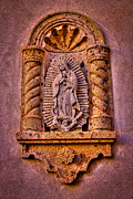 Relief Sculpture Prints - Our Lady of Guadalupe at the Chapel in Tlaquepaque  Print by David Patterson