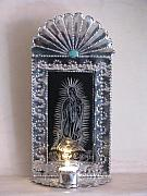 Candle Holder Mixed Media - Our Lady of Guadalupe Candle Holder by Sharon  Candelario