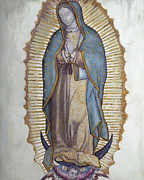 Virgin Mary Paintings - Our Lady of Guadalupe by Richard Barone