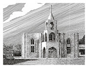 Churches Drawings - Our Lady of Guadlupe by Jack Pumphrey
