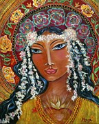 Visionary Art Painting Prints - Our Lady of Lost Causes Print by Maya Telford