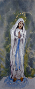 Sash Painting Acrylic Prints - Our Lady Of Lourdes 2 Acrylic Print by Vicki  Housel