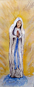 Sash Painting Acrylic Prints - Our Lady Of Lourdes Acrylic Print by Vicki  Housel