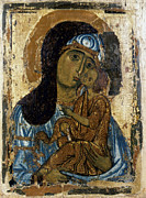 Russian Icon Photos - Our Lady Of Tenderness by Granger