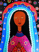 Our Lady Of Guadalupe Painting Originals - Our Lady Of Virgen Guadalupe by Pristine Cartera Turkus