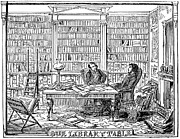 Cartoonist Photo Prints - Our Library Table, 1842 Print by Granger