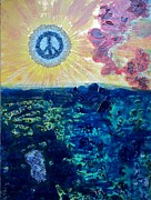 Fineartamerica.com Paintings - Our New World Of Peace And Love by Evelyn SPATZ