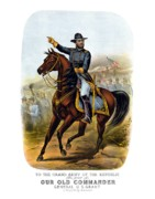 Civil War Drawings Posters - Our Old Commander Poster by War Is Hell Store