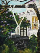 Leclair Prints - Our Porch Print by Suzanne  Marie Leclair
