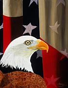 Patriotic Paintings - Our Proud Bird by JoeRay Kelley
