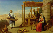 Carpenter Framed Prints - Our Saviour Subject to his Parents at Nazareth Framed Print by John Rogers Herbert