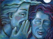Our Secret Painting 49 Print by Angela Treat Lyon