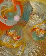 Fractal Pastels Posters - Our Souls Expand Poster by Gayle Odsather