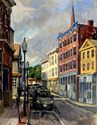 League Painting Prints - Our Town North Adams Print by Thor Wickstrom